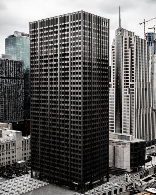 Building with door or elevator